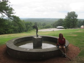 fountain and view