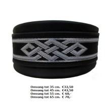 halsband, trible, zilver zwart