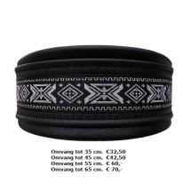 griekse stijl, halsband, zwart