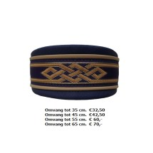 halsband, tribel afdruk, opdruk, blauw, goud