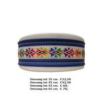 witte band, kleurrijk fleurig, kleurtjes, halsband,