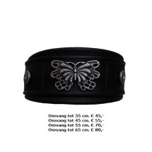 halsband, grote vlinder, metalen, opdruk, windhond, whippet, galgo, afghaan
