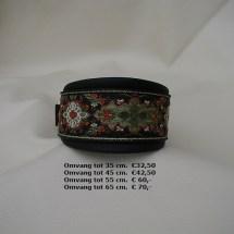 winterkleuren, halsband, groen, bloemen, ornamenten