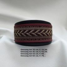 halsband, vissengraad, rood, mays halsbanden