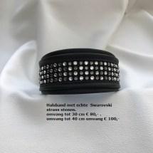 showhalsband, hondenshow, halsband, strass stenen, swarovski, chique halsband