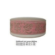 witte halsband, roze halsband, sierband