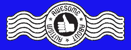 Awesome about Autism stamp blue
