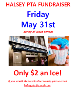 PTA Ices Fundraiser Flyer