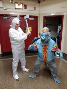 Halloween Tin Man & Flying Monkey