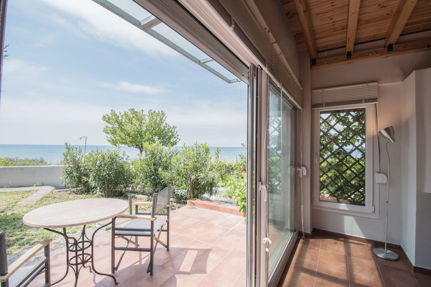 Patio and Sea view