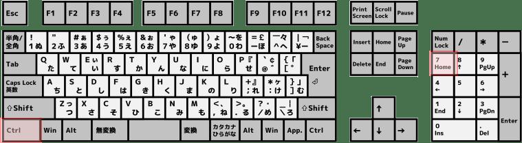 キーボード[Ctrl]+[Home]