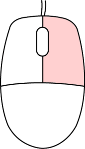 マウスの右ボタン