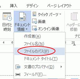 ドキュメント情報のファイルのパス