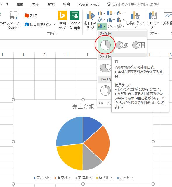 [2-D 円]の中の[円]を選択