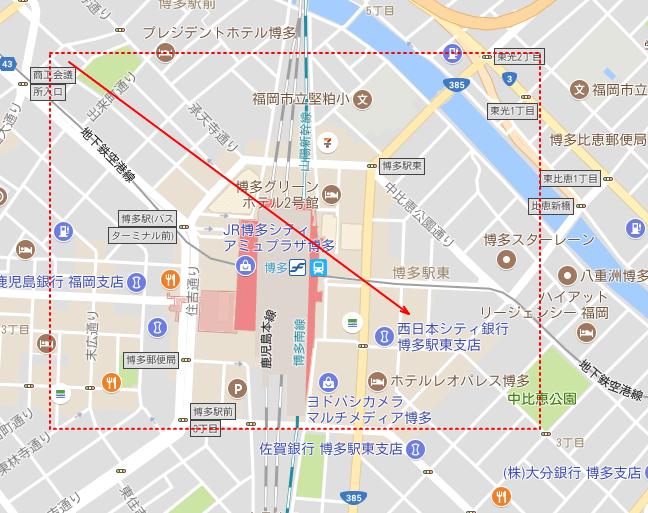 地図でドラッグ