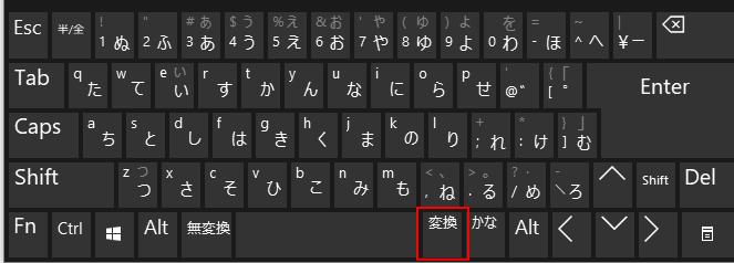 キーボードの変換キー