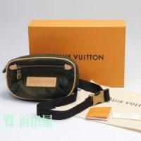 ルイ・ヴィトン (Louis Vuitton) ルイヴィトン × Supreme シュプリーム コラボ BUMBAG PM SP M. CAMO. バムバッグ ポーチ ボディバッグ M44202 モノグラム・カモフラージュ キャンバス カモフラ