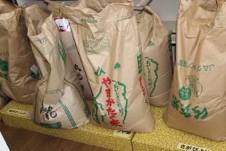 お米の量り売りもしています。