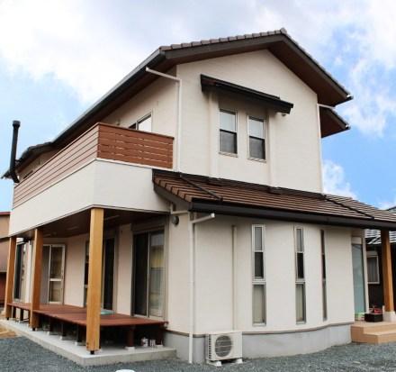 松井建設 施工物件の例 暖炉のあるお家