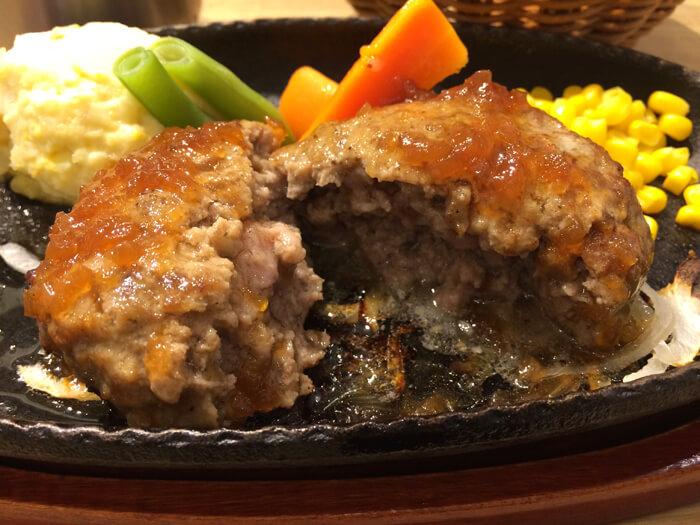 黒毛牛ハンバーグステーキフレッシュオニオンソース