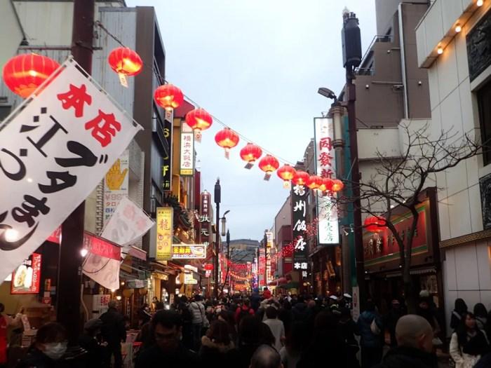 横浜中華街の春節(採青)