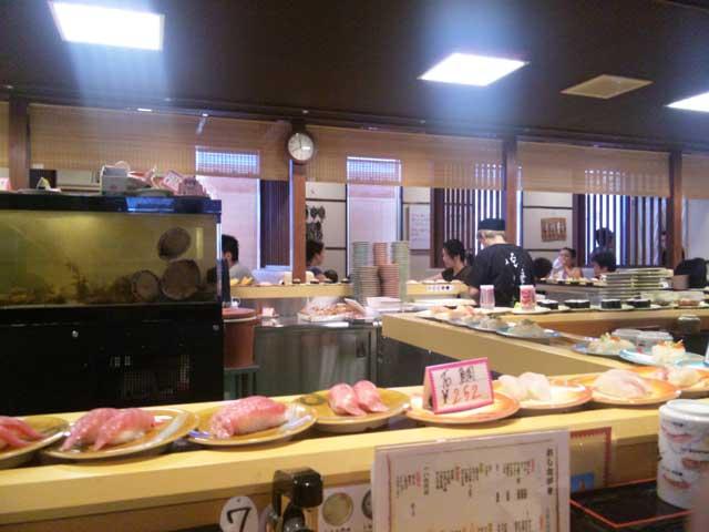 佐渡の回転寿司
