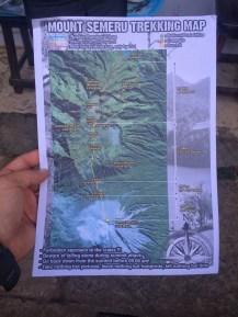 Mount Semeru trekking map...seems simple enough!