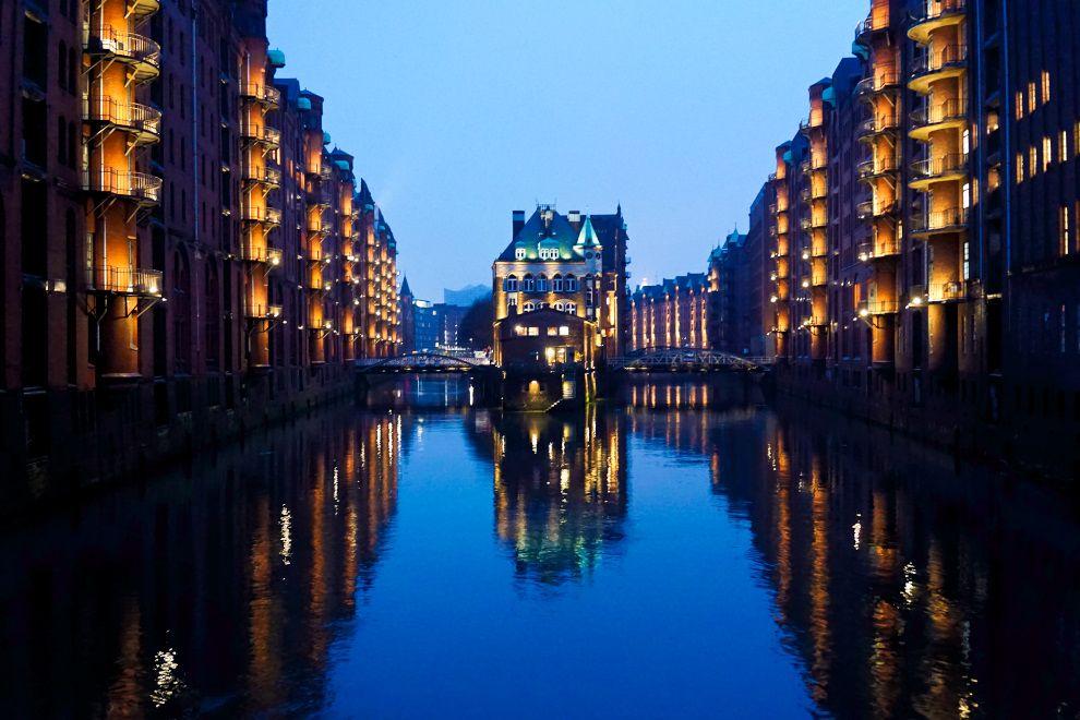 Germany - Hamburg - Speicherstadt - Nighttime