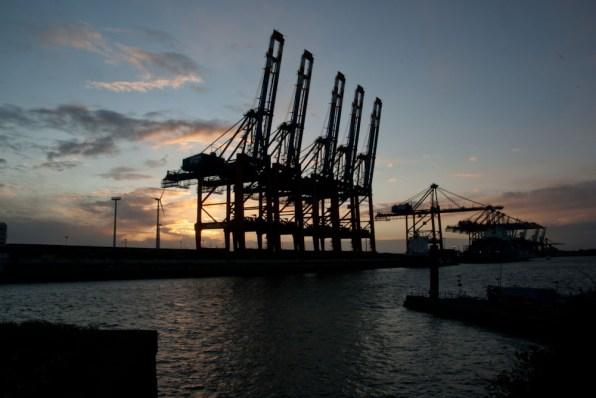 Containerbrücken am Eurokai