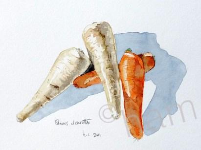 Panais et carottes