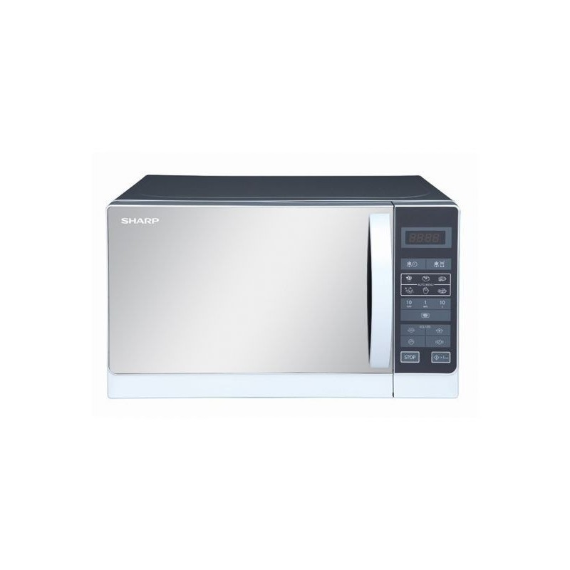 sharp compact microwave oven 20 l 800 watts silver
