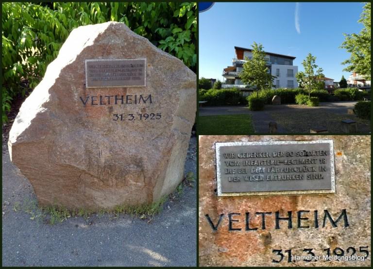 """Hintergrundinformationen zum Gedenkstein """"Veltheim – 31.03.1925"""" auf dem Scharnhorstgelände in Hameln"""