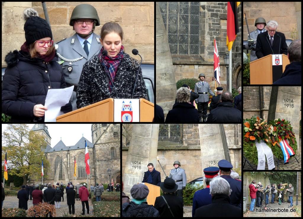 Volkstrauertag 2018 in Hameln – Gedenkveranstaltung am Münster