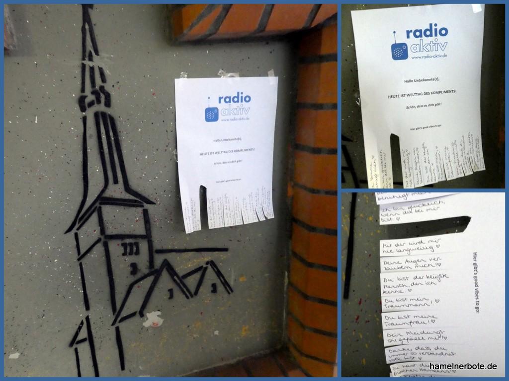 Tolle Aktion von Radio Aktiv: Komplimentezettelchen
