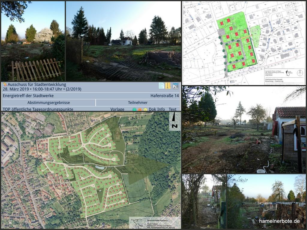 Vorbereitungen Baugebiet Riesackweg II (Vogelbeerweg) Planungen Apenberg