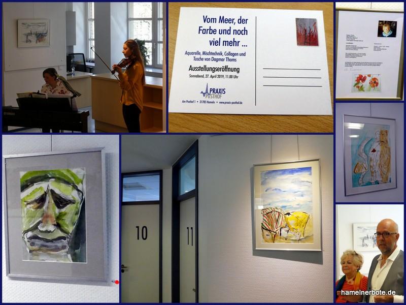 Ausstellungseröffnung: Aquarelle, Mischtechnik, Collagen und Tusche – Praxis am Posthof