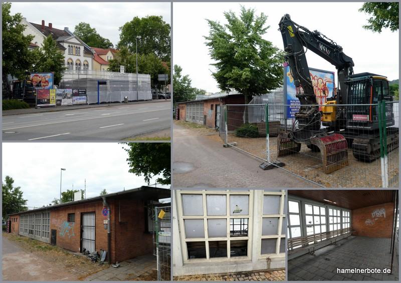 Abrissvorbereitung: Kiosk/Toilettenhäuschen Mühlenstraße Hameln