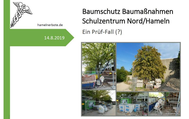 Baumschutz bei Baumaßnahmen – hier AEG/Schulzentrum Nord -Baustelle