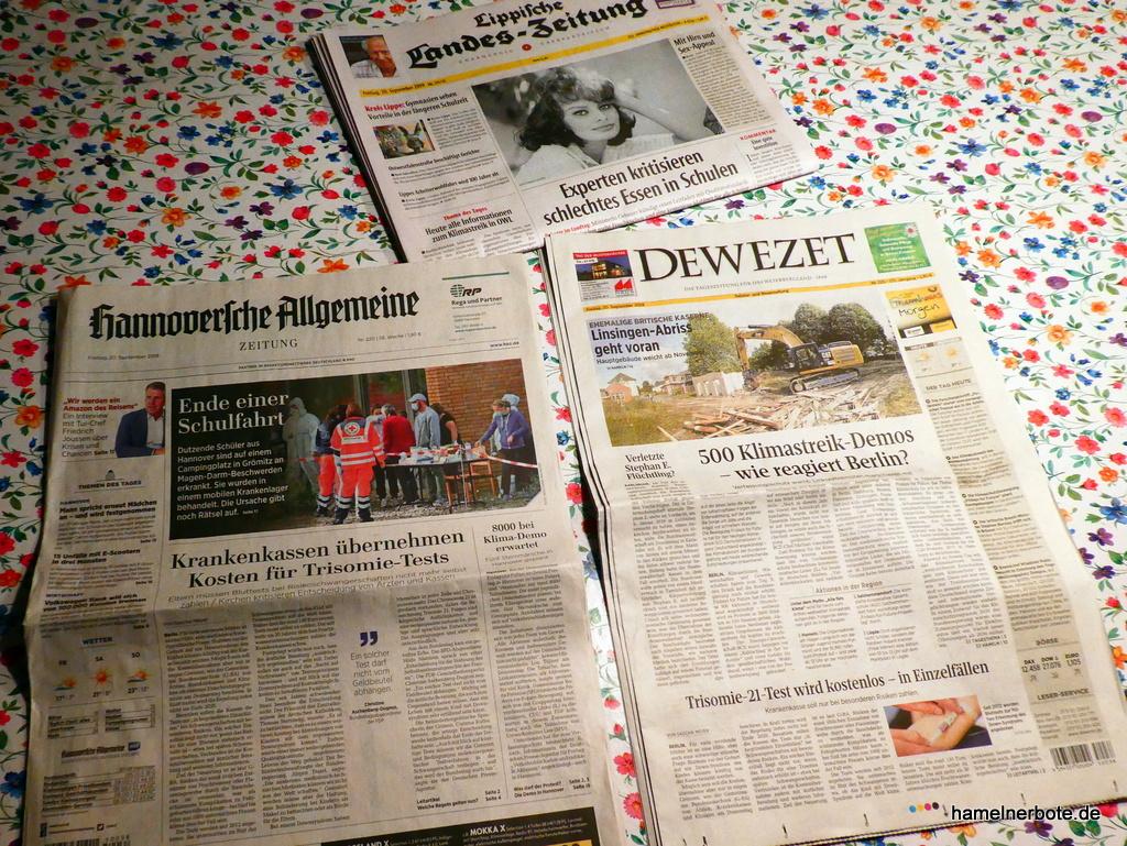 Zeitungsvergleich macht stutzig: Klimaschutz-Kriminalisierung des stellvertr. Chefredakteurs Thomas Thimm in der DEWEZET