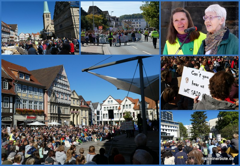 "Klimaschutzdemo ""friday for future"" in Hameln am 20.09.2019 – Impressionen"