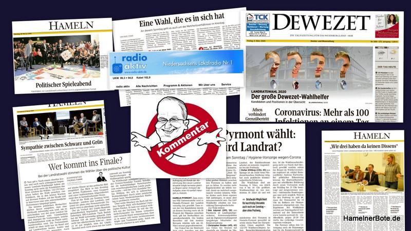 Kommentar Nr. 2 zur Landratswahl – Sachstand 14.3.2020: Medienbewertung!