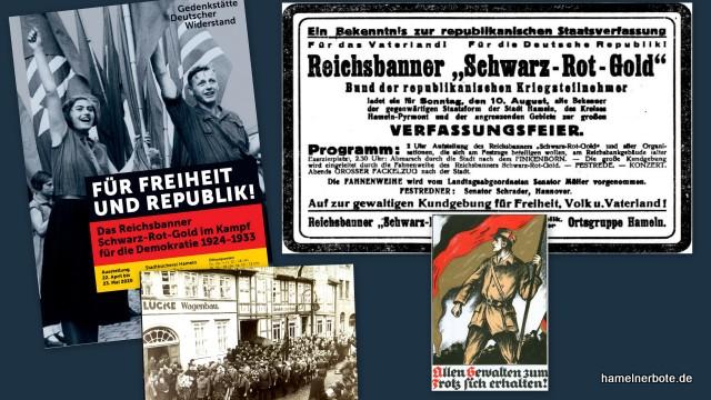 """Wer kann Informationen zum Reichsbanner """"Schwarz-Rot-Gold"""" in Hameln geben?"""