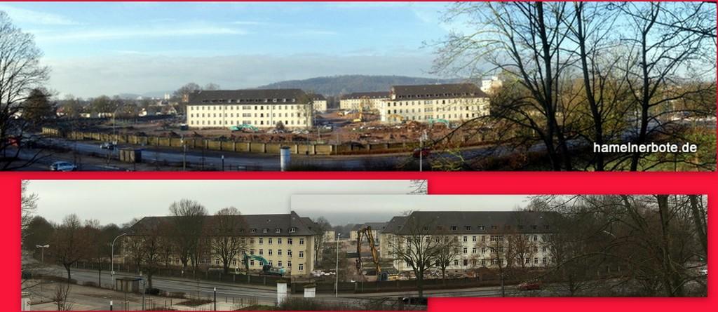Linsingenkaserne im Abbruch. Sachstand 14.03.2020