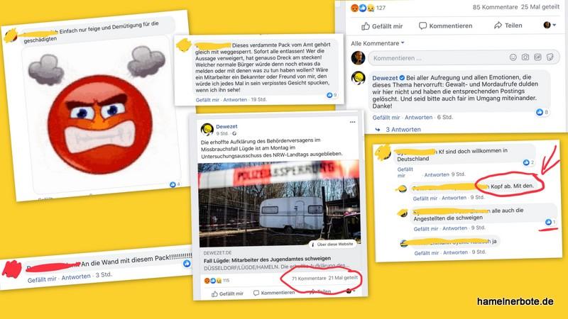 Facebook-Kommentare und das Problem des Umgangs damit. Beispiel Lügde: