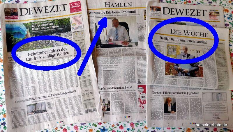DEWEZET-Berichterstattung: Landrat und Ehrenamtsstelle