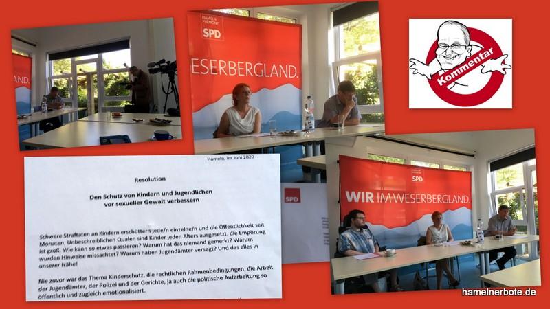 Pressekonferenz der SPD HM-PY zum Thema Kindesschutz vor sexueller Gewalt am 26.06.2020 (Mediensammlung und Bewertung)