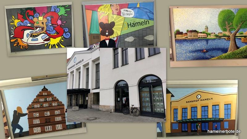 Kunst im Bahnhof Hameln