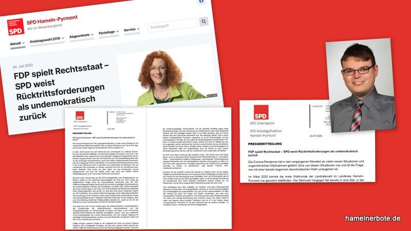 SPD-Position zu den Rücktrittsforderungen an den Landrat Dirk Adomat