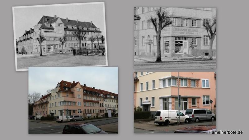 Stadtgeschichte: Eckhaus Kaiserstraße/Sertürnerstraße