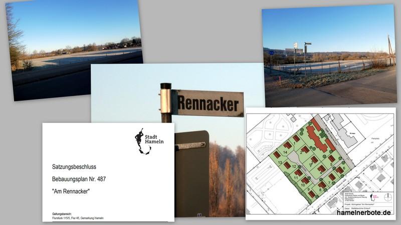 """Baugebiet """"Am Rennacker"""": 14 Bauplätze mit Überschwemmungsrisiko und ohne Kompensation der Naturschäden."""
